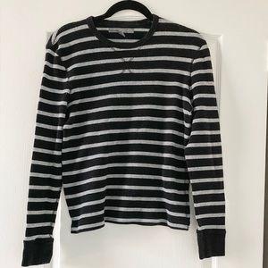 Old Navy Men's Black & Grey Crew-Neck Sweater